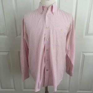 Orvis cotton plaid check button down dress shirt M